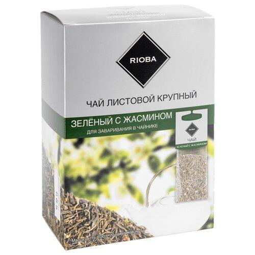 Фото - Чай зеленый Rioba Жасмин для заваривания в чайнике в пакетиках, 100 г 20 шт. чай в пакетиках фиточаи байкальские женский лечебный с боровой маткой 20 шт по 1 5 г