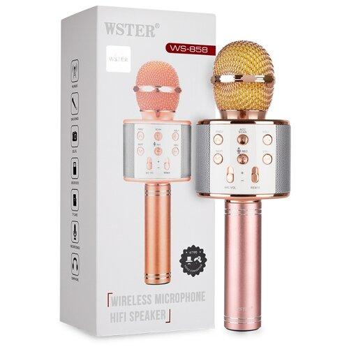 Оригинальный караоке микрофон WSTER WS-858 розовое золото