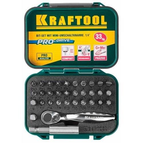Набор инструментов Kraftool (33 предм.) 26157-H33 набор инструментов kraftool 70 предметов industry 27977 h70