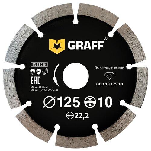 Фото - Диск алмазный отрезной 125x2x22.2 GRAFF GDD 18 125.10 1 шт. диск отрезной 125x1 6x22 23 graff gadm 125 16 1 шт