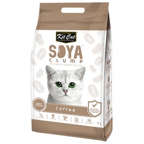 Комкующийся наполнитель Kit Cat Soya Clump Coffee 7 л- преимущества, отзывы, как заказать товар за 892 руб. Бренд Kit Cat