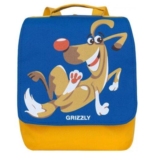 Grizzly Рюкзак (RK-998-1), синий/желтый экскаватор 998 su yuan toys 998 45a3 16 см желтый