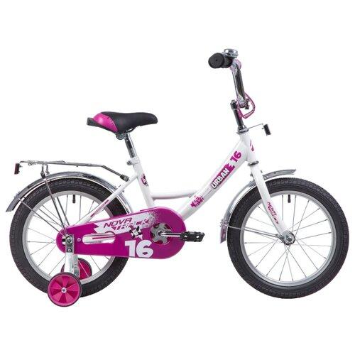 Детский велосипед Novatrack Urban 16 (2019) белый (требует финальной сборки)