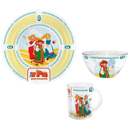 Набор для завтрака PRIORITY Три богатыря Царевны, 1 персона