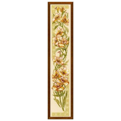Купить Риолис Набор для вышивания крестом Альстремерии 20 х 92 (939), Наборы для вышивания