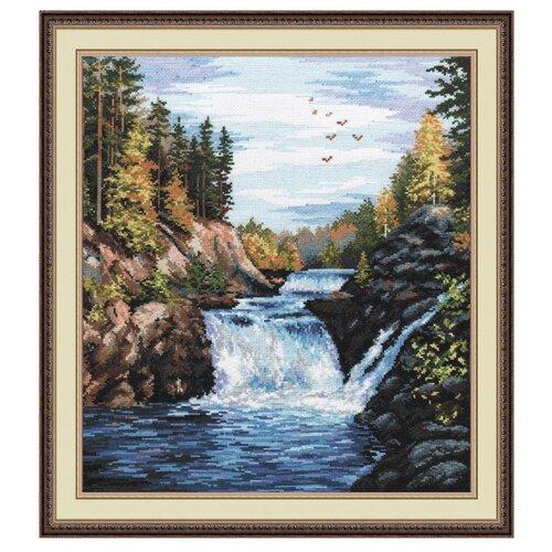Купить Овен Цветной Вышивка крестом Водопад Кивач 29 х 35 см (560), Наборы для вышивания