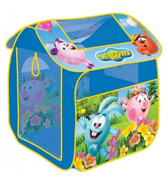 Палатка Играем вместе Смешарики квадрат в сумке GFA-SMESH-R