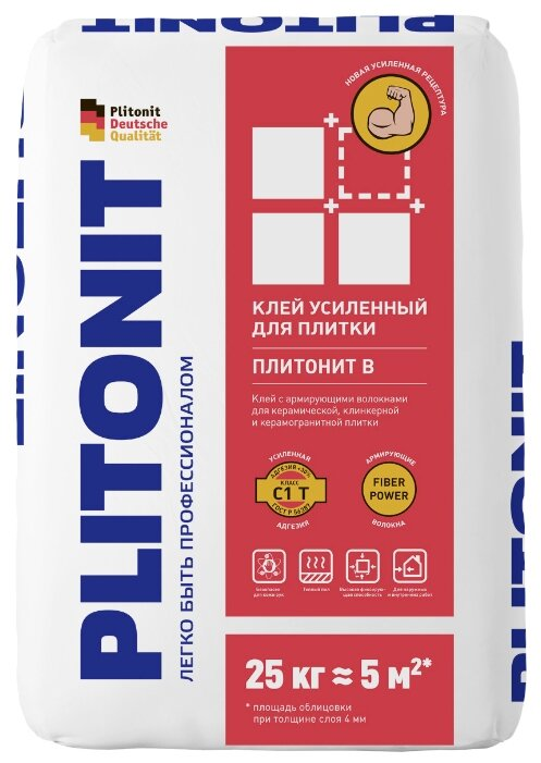 Клей Plitonit В Усиленный 25 кг