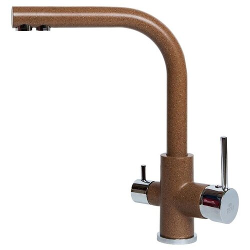 Однорычажный смеситель для кухни (мойки) Paulmark Essen Es213011 307 терракотСмесители<br>