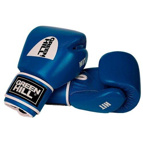 Боксерские перчатки Green hill Hit (BGH-2257) синий 10 ozБоксерские<br>