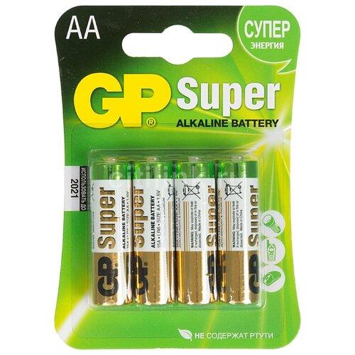 Батарейка GP Super Alkaline AA 4 шт блистер цена 2017