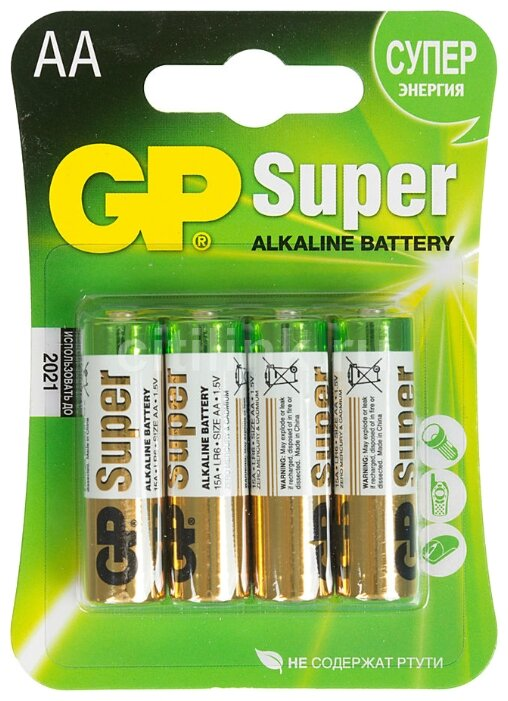 Батарейка AAA GP Super Alkaline 15A