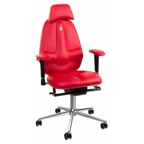 Компьютерное кресло Kulik System Classic (с подголовником), обивка: искусственная кожа, цвет: красный