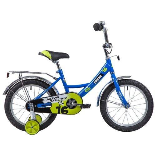 Детский велосипед Novatrack Urban 16 (2019) синий (требует финальной сборки)
