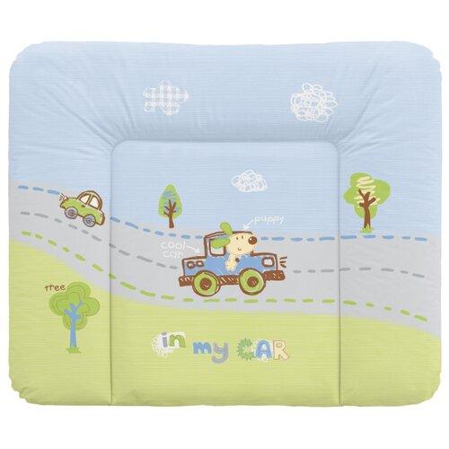 Купить Пеленальный матрас Bebe Planete 70х85 см In my Car / green, Пеленальные столики и доски