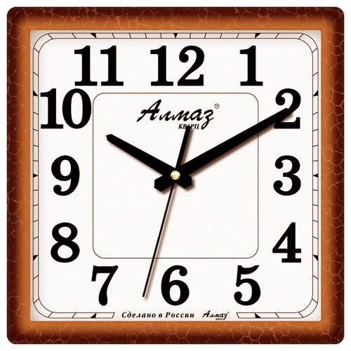 Часы настенные кварцевые Алмаз K15/K18/K38 светло-коричневыйЧасы настенные<br>