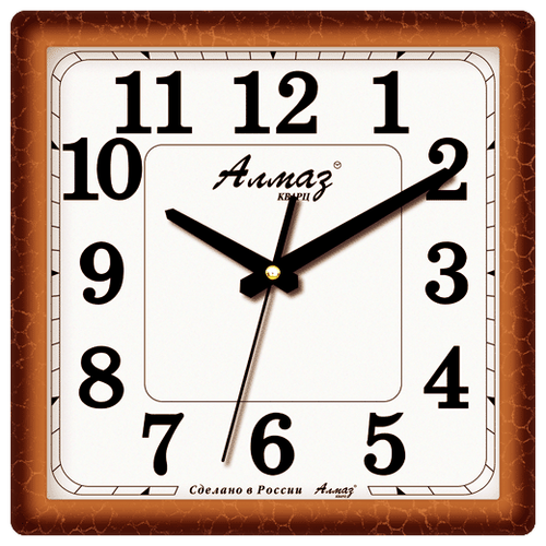 Часы настенные кварцевые Алмаз K15/K18/K38 светло-коричневый