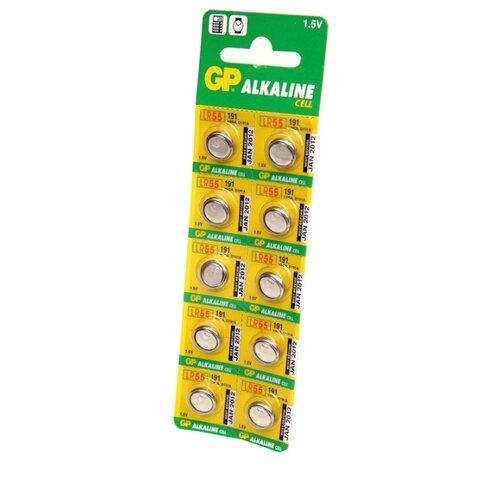 Батарейка GP Alkaline Cell 191 LR55 10 шт блистер