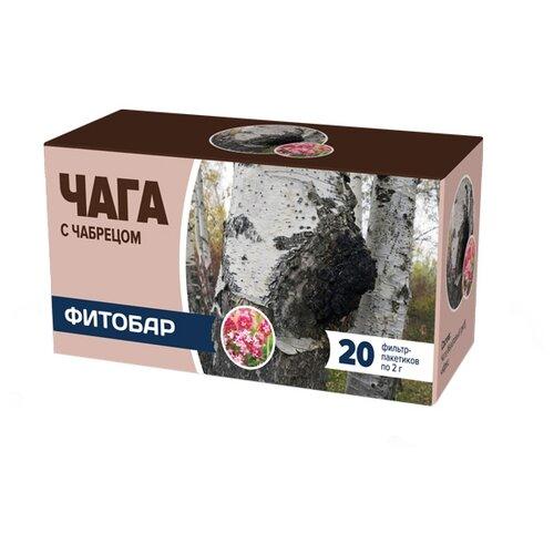 Чайный напиток травяной Соик Фитобар №34 Чага с чабрецом в пакетиках, 20 шт.