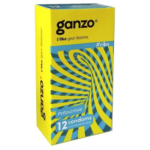 Презервативы Ganzo Ribs (12 шт.) презервативы ganzo juice 12 шт