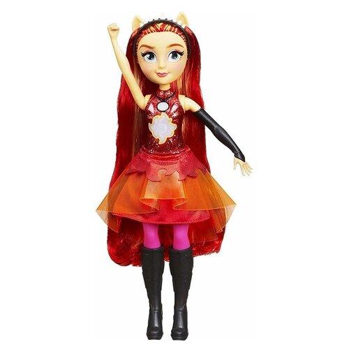 Кукла My Little Pony Девочки Эквестрии Сансет Шиммер интерактивная, 28 см, E2743 little you мягкая кукла джейн