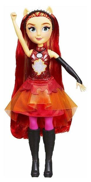 Кукла My Little Pony Девочки Эквестрии Сансет Шиммер интерактивная, 28 см, E2743