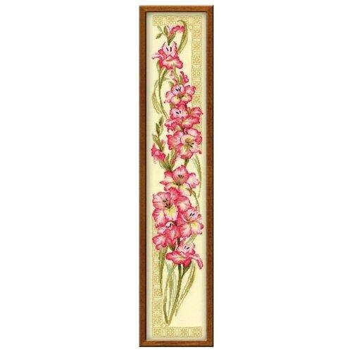 Купить Риолис Набор для вышивания крестом Гладиолусы 20 х 92 (938), Наборы для вышивания
