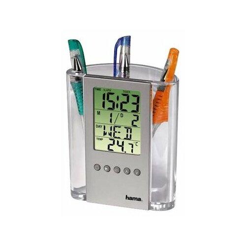 Термометр HAMA LCD Thermometer & Pen Holder (075299) серебристый