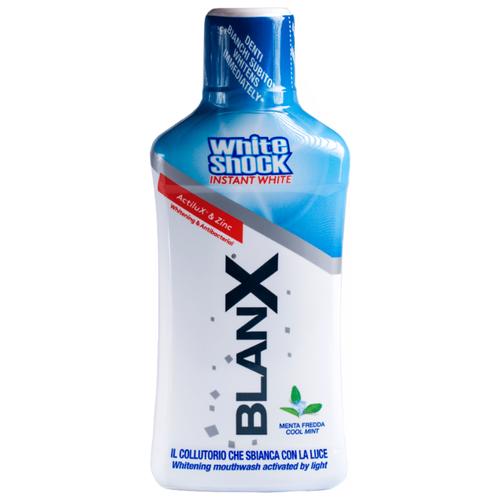 BlanX White Shock Antibacterial Mouthwash Instant White, Антибактериальный ополаскиватель для полости рта Быстрое отбеливание 500 млПолоскание и уход за полостью рта<br>