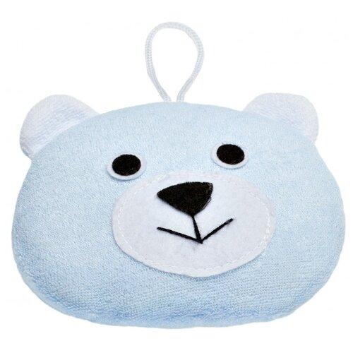 Губка ROXY-KIDS Bear с махровым покрытием синий цена 2017