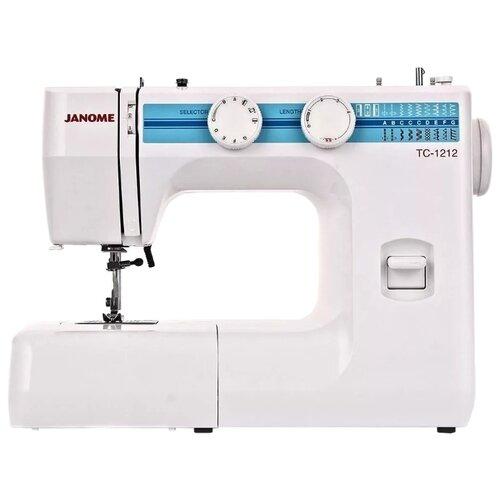 Фото - Швейная машина Janome TC 1212, белый/голубой швейная машина janome tc 1218 белый