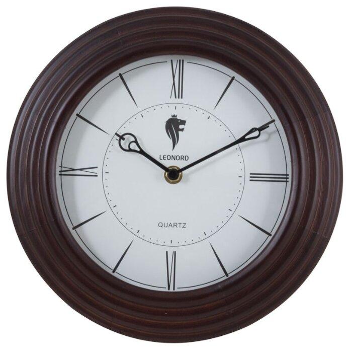 Часы настенные кварцевые LEONORD LC-69 темно-коричневый
