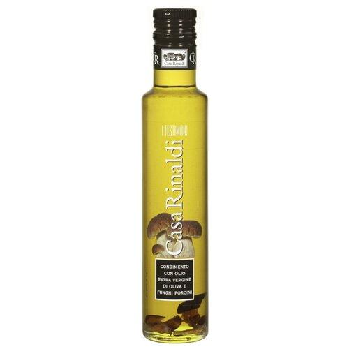 Casa Rinaldi Масло оливковое Extra Virgin с кусочками белых грибов 0.25 л casa rinaldi масло оливковое pomace sansa стеклянная бутылка 1 л