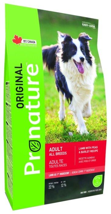 Корм для собак ProNature Original для здоровья кожи и шерсти, ягненок с горошком, с ячменём 2.27 кг