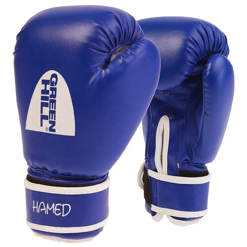 Боксерские перчатки Green hill Hamed (BGH-2036) без таргета синий 12 ozБоксерские<br>