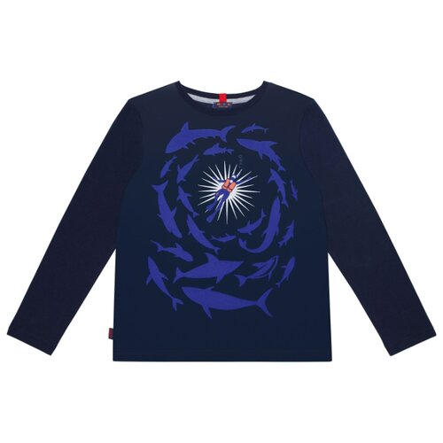 Лонгслив Chinzari размер 140/146, темно-синий олимпийка chinzari размер 140 146 темно синий меланж