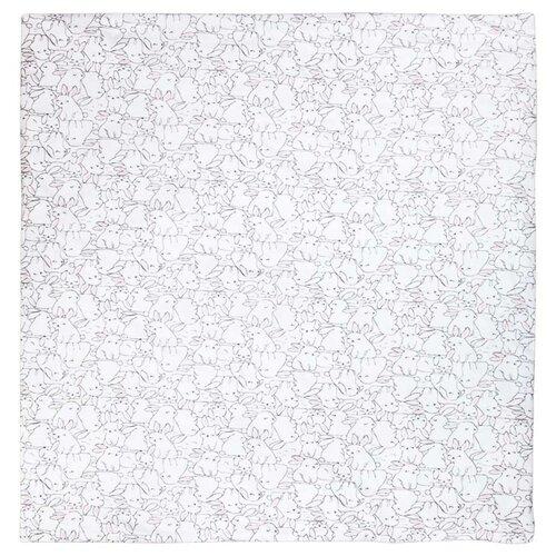 Плед Сонный Гномик МоЗайка 87х87 см белоснежный с рисунком плед сонный гномик сонный гномик mp002xg00psm
