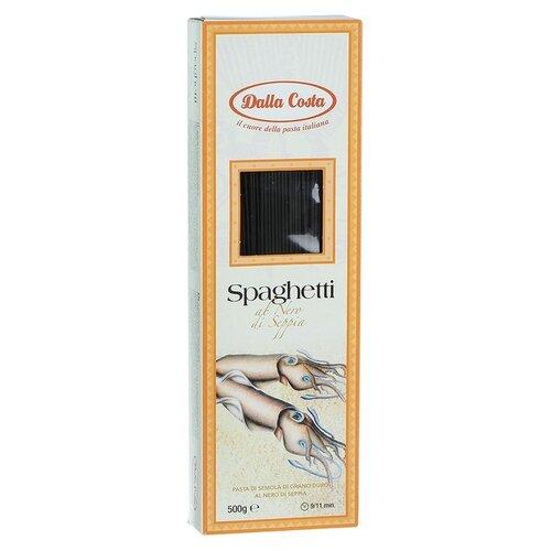 Dalla Costa Макароны Spaghetti с чернилами каракатицы, 500 г