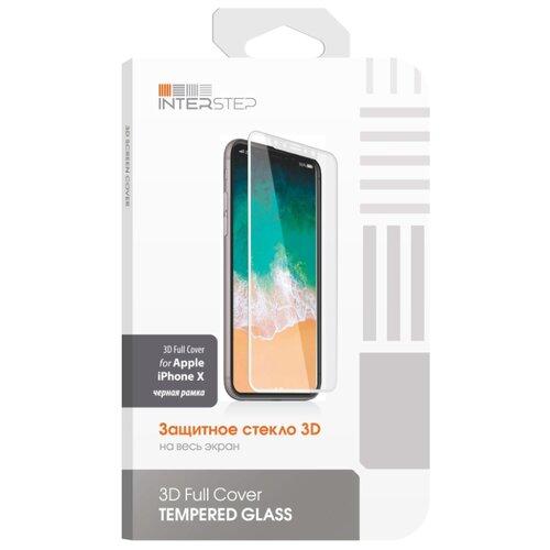 Купить Защитное стекло INTERSTEP 3D Full Cover для Apple iPhone X черный