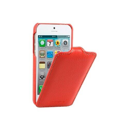 Чехол Melkco Jacka Type для Apple iPhone 5/iPhone 5S/iPhone SE красный чехол для сотового телефона melkco кожаный чехол флип для apple iphone x xs jacka type розовый