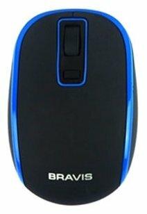 Мышь BRAVIS BMW-728BB Black-Blue USB
