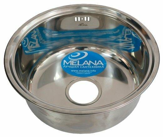 Врезная кухонная мойка MELANA MLN-430 43х43см нержавеющая сталь