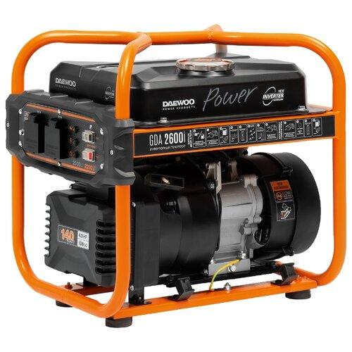 Бензиновый генератор Daewoo Power Products GDA 2600i (2000 Вт) электрический генератор и электростанция daewoo power products ddae 9000 dxe 3