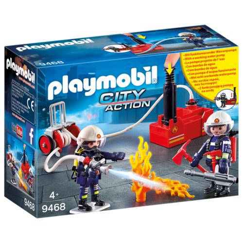 цена на Набор с элементами конструктора Playmobil City Action 9468 Пожарная служба: Пожарные с водяным насосом