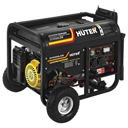 Бензиновый генератор Huter DY6500LXW (5000 Вт) бензиновый генератор huter dy3000l