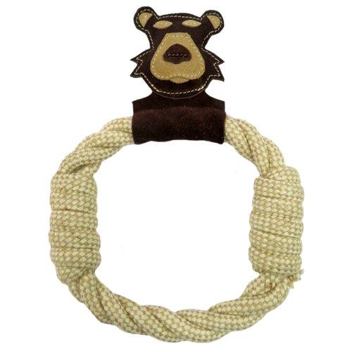 Игрушка для собак Ankur Медведь-кольцо 27х20 см коричневый