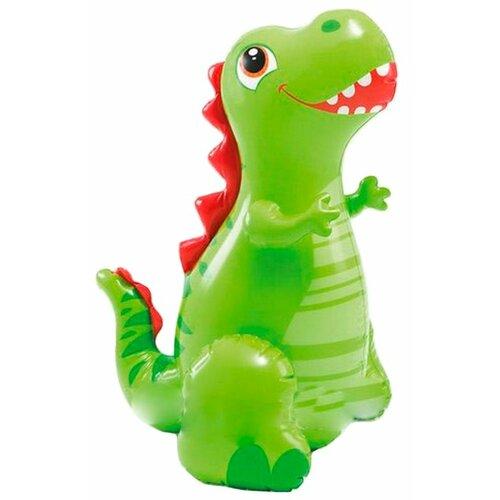 Надувная игрушка Intex Веселый динозавр с фонтаном Intex 56598 зеленый/красный, Надувные игрушки  - купить со скидкой