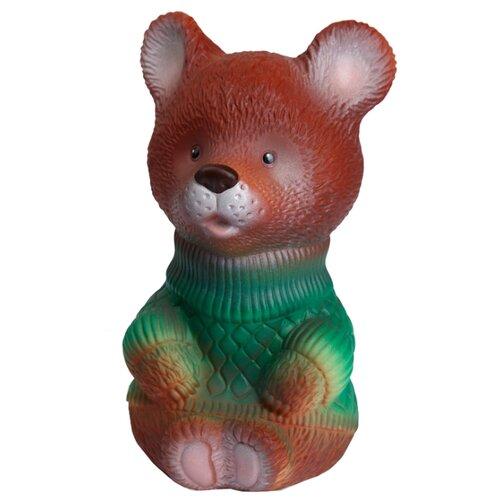 Купить Игрушка для ванной ОГОНЁК Медвежонок Медвежка (С-604) коричневый/зеленый, Игрушки для ванной