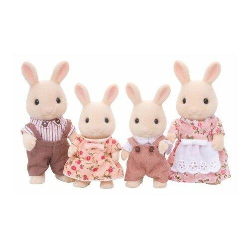 Фигурки Sylvanian Families Семья молочных кроликов 3144 набор семья кроликов sylvanian families