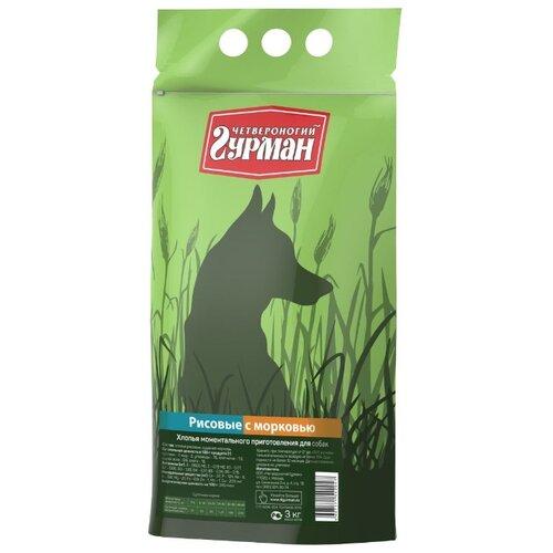 Корм для собак Четвероногий Гурман (3 кг) Рисовые хлопья с морковью для собакКорма для собак<br>